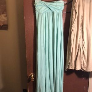Four Stars strapless front twist maxi dress SZ Med